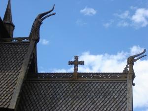 Detaljer från Loms stavkyrka